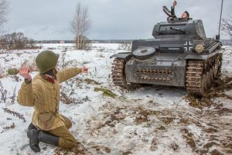 Уроки мужества. Битва за Москву. (Грандиозня реконструкция в с. Иславское)