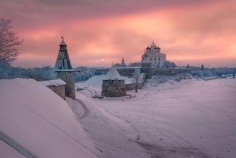 Зимние каникулы в Пскове (3 дня + ж/д)